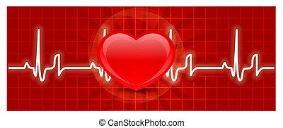Heart cardiogram - Vector heart cardiogram