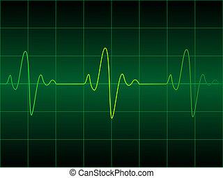 Heart cardiogram illustration