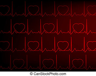 Heart cardiogram with heart. EPS 8