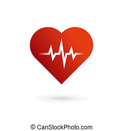 Heart cardiology symbol logo icon. May be used in medical,...