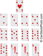 heart cards poker