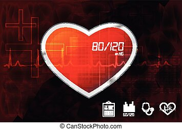 Heart Care Abstract Background - Illustration