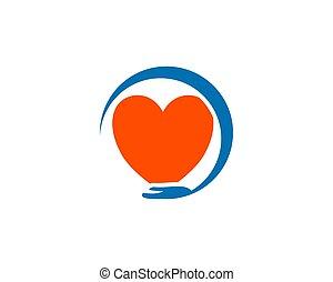 Heart Care Logo Design Template Vector Icon Illustration