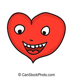heart cartoon icon