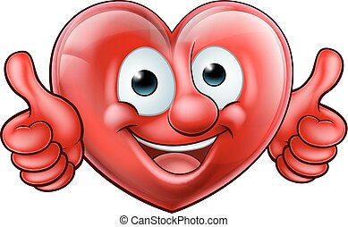 Heart Cartoon Mascot