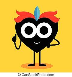 Heart Cartoon Mascot Character