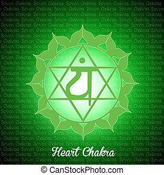 heart chakra - illustration of heart chakra