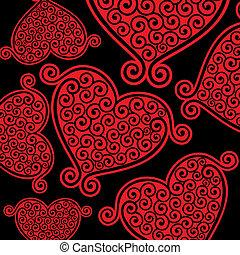 heart charakter, grafické pozadí, seemless