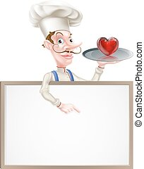 Heart Chef Sign