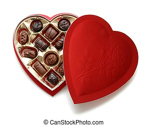 Heart Chocolates - A heart shaped box of chocolates for...