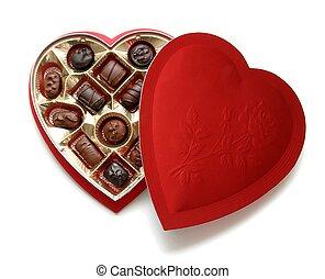 Heart Chocolates - A heart shaped box of chocolates for...