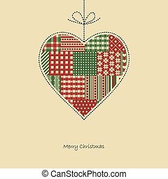 heart - christmas card vector
