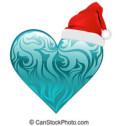heart christmas vector design