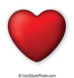 heart., clásico, rojo