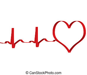 Heart concept background vector for poster