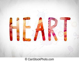 Heart Concept Watercolor Word Art