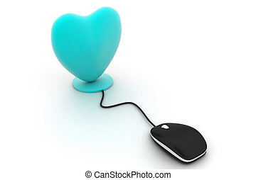 Heart connected to a computer
