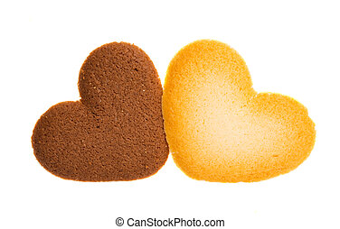 heart cookies isolated