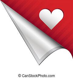 Heart corner tab