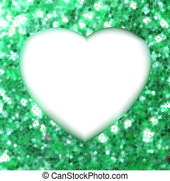 heart., cornice, eps, forma, verde, 8