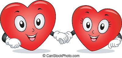 Heart Couple Mascots