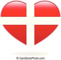 Heart cross isolated vector