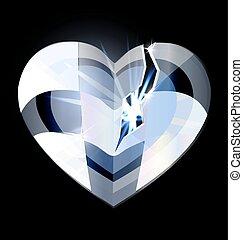 heart-crystal, quebrada, gelo