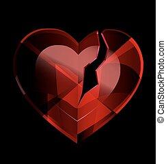 heart-crystal, quebrada