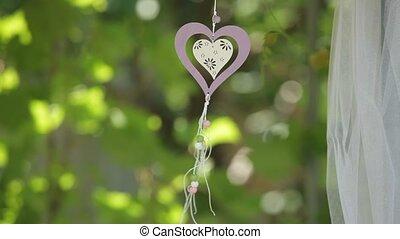 Heart Decoration - Little bauble gracing the garden.