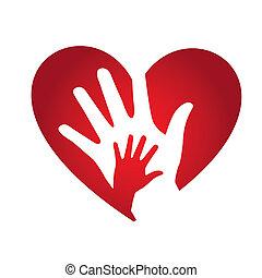 heart design over white background vector illustration