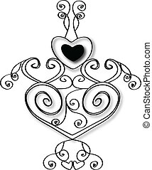 Heart design stock vector