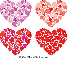 Heart design, vector set