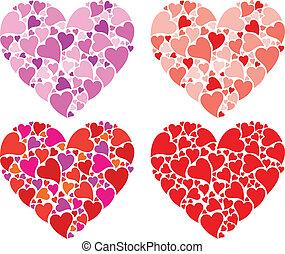 Heart design, vector set