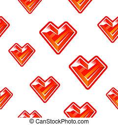 Heart diamond background