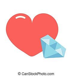 heart diamond girl power