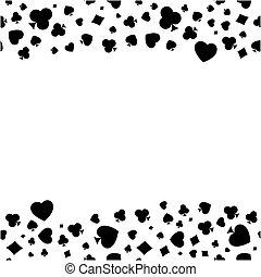 Heart, diamond, spade and clubs bor