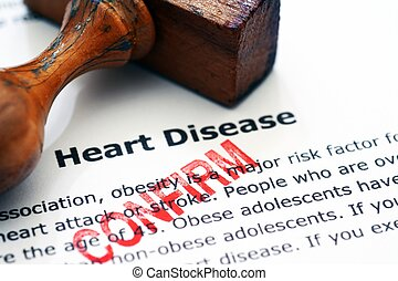 Heart disease - confirm