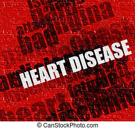 Heart Disease: Differential Diagnoses on Brickwall .