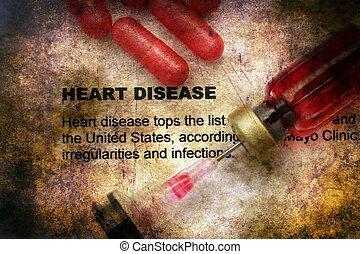 Heart disease grunge concept
