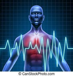 Heart disease - Heart and coronary disease representing the ...