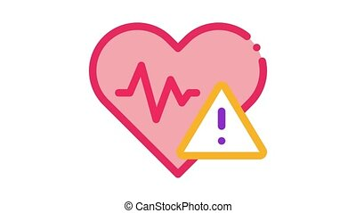 Heart Disease Icon Animation. color Heart Disease animated icon on white background