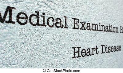 Heart disease medical report