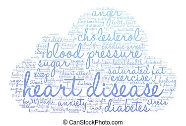 Heart Disease Word Cloud - Heart Disease word cloud on a...