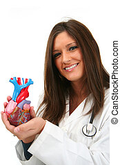 Heart Doctor - Young doctor with stethoscope