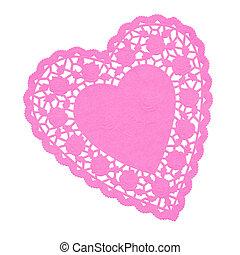 Heart Doilie Pink