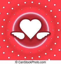 heart dots explode vector