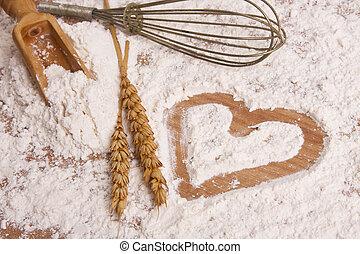 heart drawn in Farina