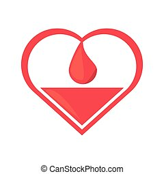 heart drop blood donation symbol