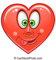 Heart Emoticon Symbol Cartoon Crazy Red Heart Emoticons