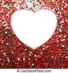 heart., eps, forma, 8, fama, vermelho